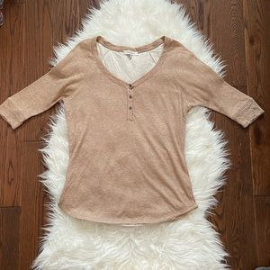 Brown Henley Shirt